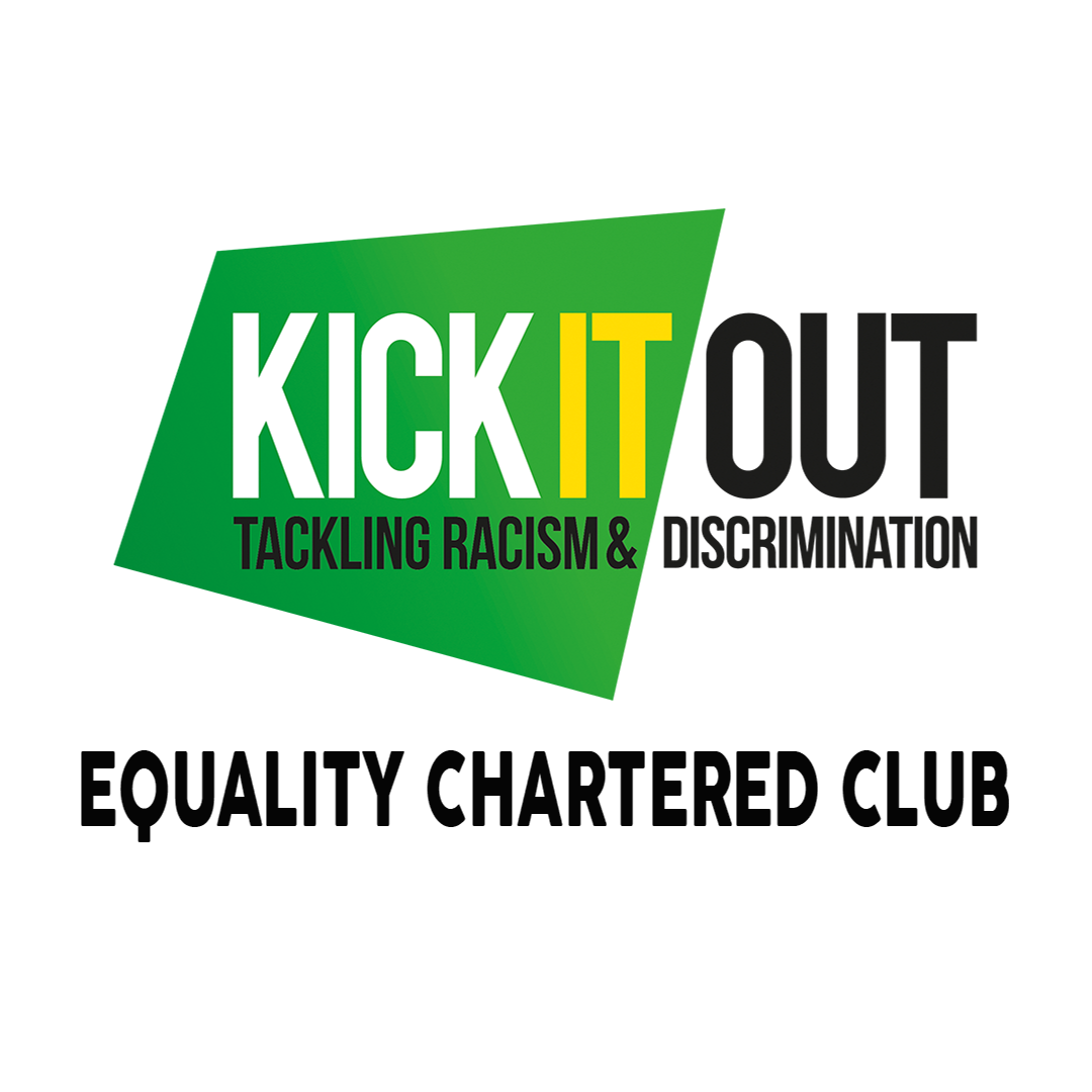 We're an Kick It Out Equality Charter Standard Club!!